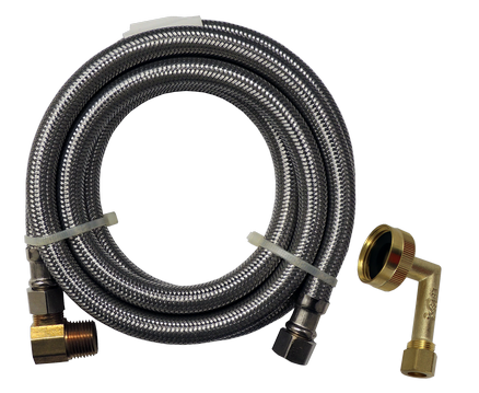 DW5SS Supco 5 Foot Stainless Steel Dishwasher Hose with FHT Fitting